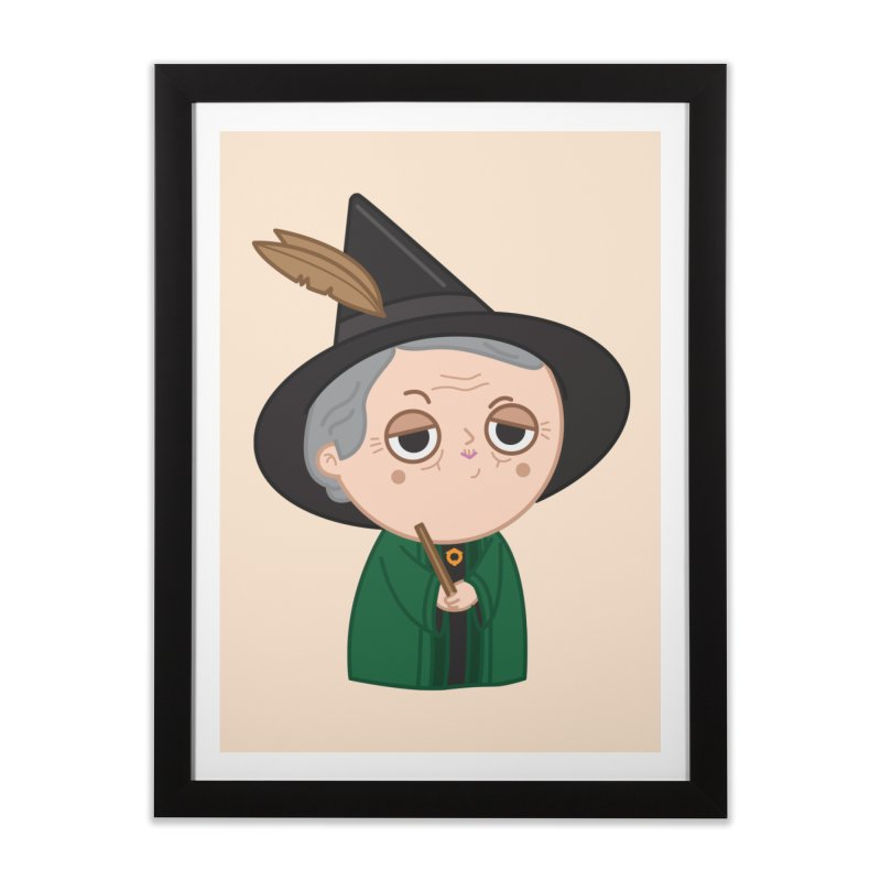 Professor Mcgonagall Home Framed Fine Art Print by Pepe Rodríguez