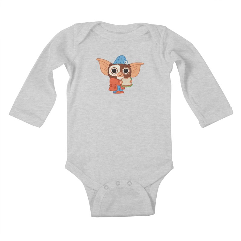 Midnight Snack Kids Baby Longsleeve Bodysuit by Pepe Rodríguez