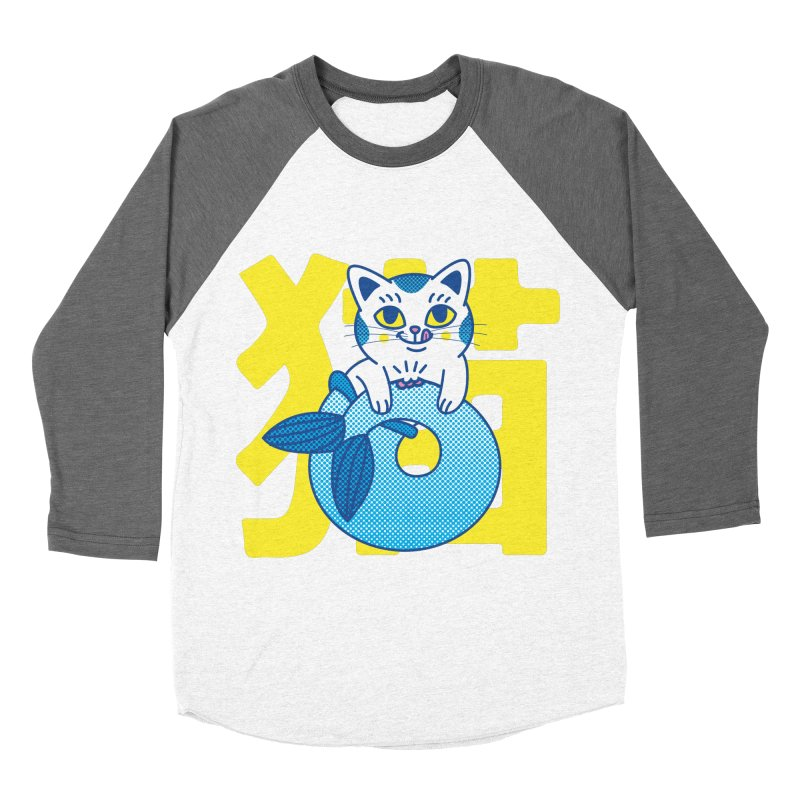 Catfish Women's Baseball Triblend Longsleeve T-Shirt by Pepe Rodríguez