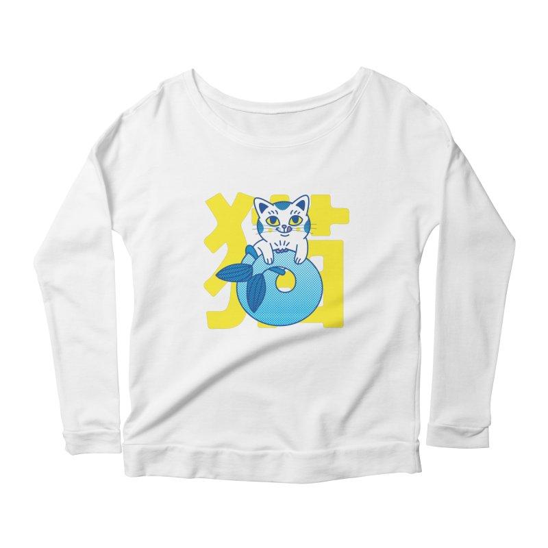 Catfish Women's Scoop Neck Longsleeve T-Shirt by Pepe Rodríguez