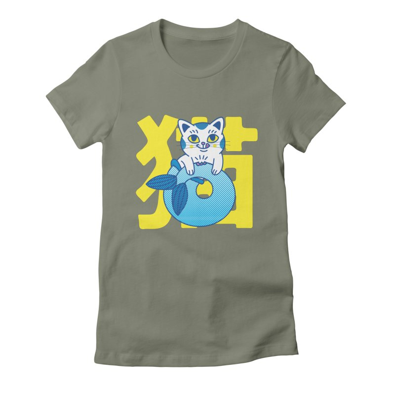 Catfish Women's Fitted T-Shirt by Pepe Rodríguez