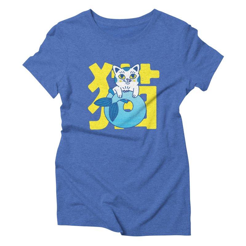 Catfish Women's Triblend T-Shirt by Pepe Rodríguez