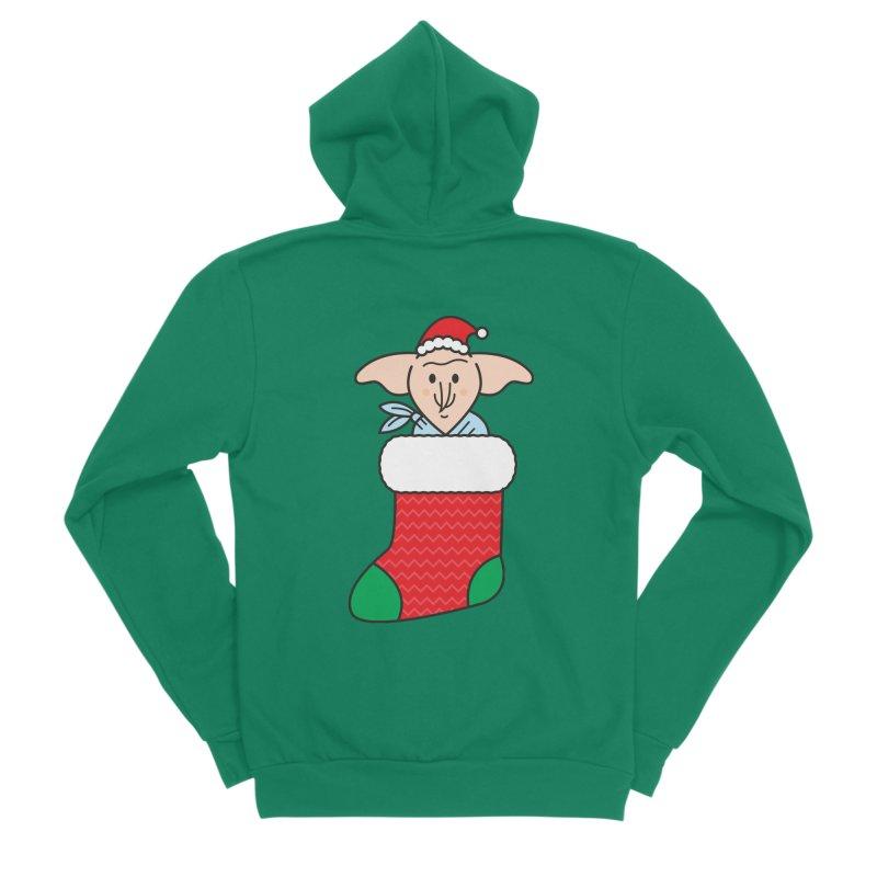 Xmas Elf Women's Sponge Fleece Zip-Up Hoody by Pepe Rodríguez