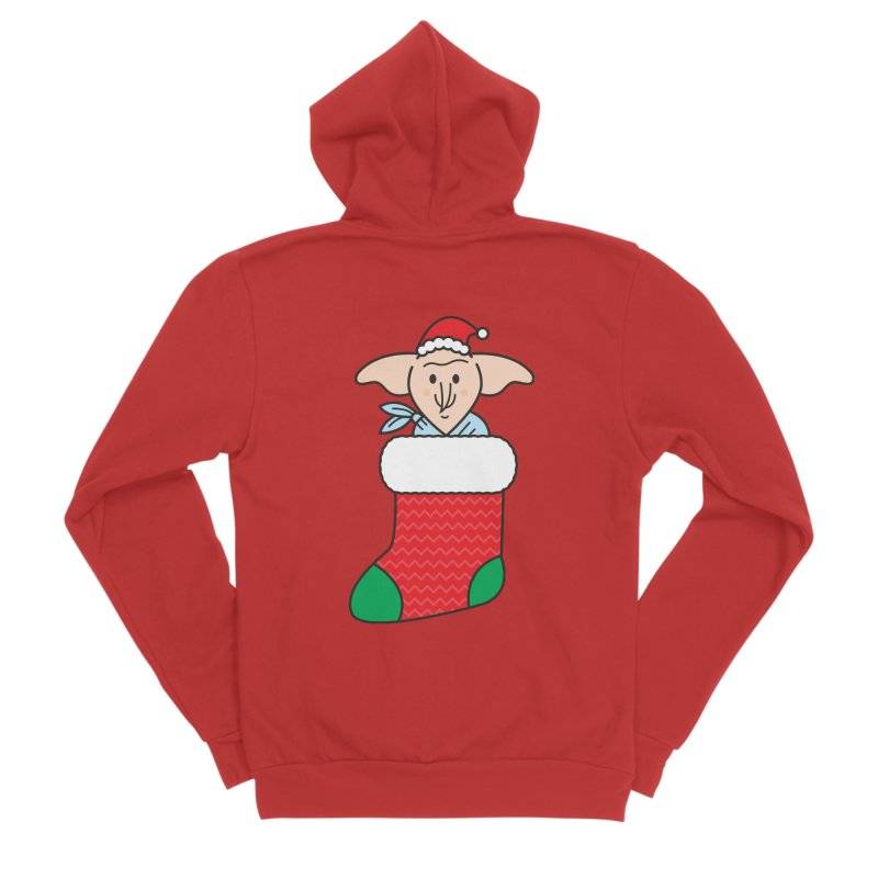 Xmas Elf Men's Sponge Fleece Zip-Up Hoody by Pepe Rodríguez