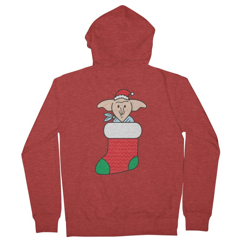 Xmas Elf Men's French Terry Zip-Up Hoody by Pepe Rodríguez