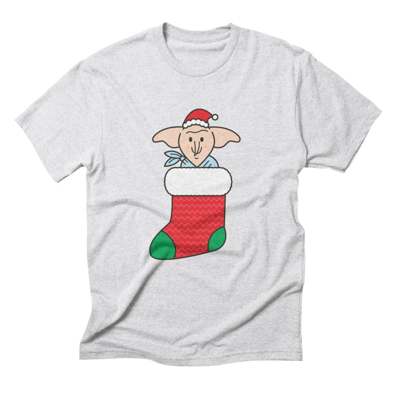 Xmas Elf in Men's Triblend T-Shirt Heather White by Pepe Rodríguez