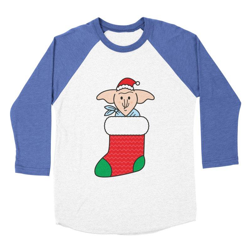 Xmas Elf Men's Baseball Triblend Longsleeve T-Shirt by Pepe Rodríguez