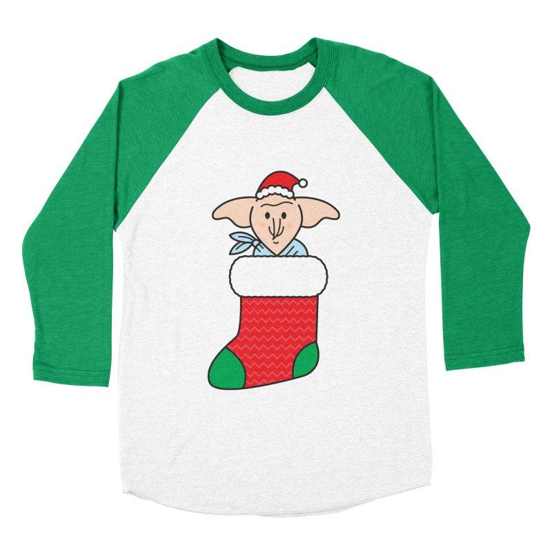 Xmas Elf Women's Baseball Triblend Longsleeve T-Shirt by Pepe Rodríguez