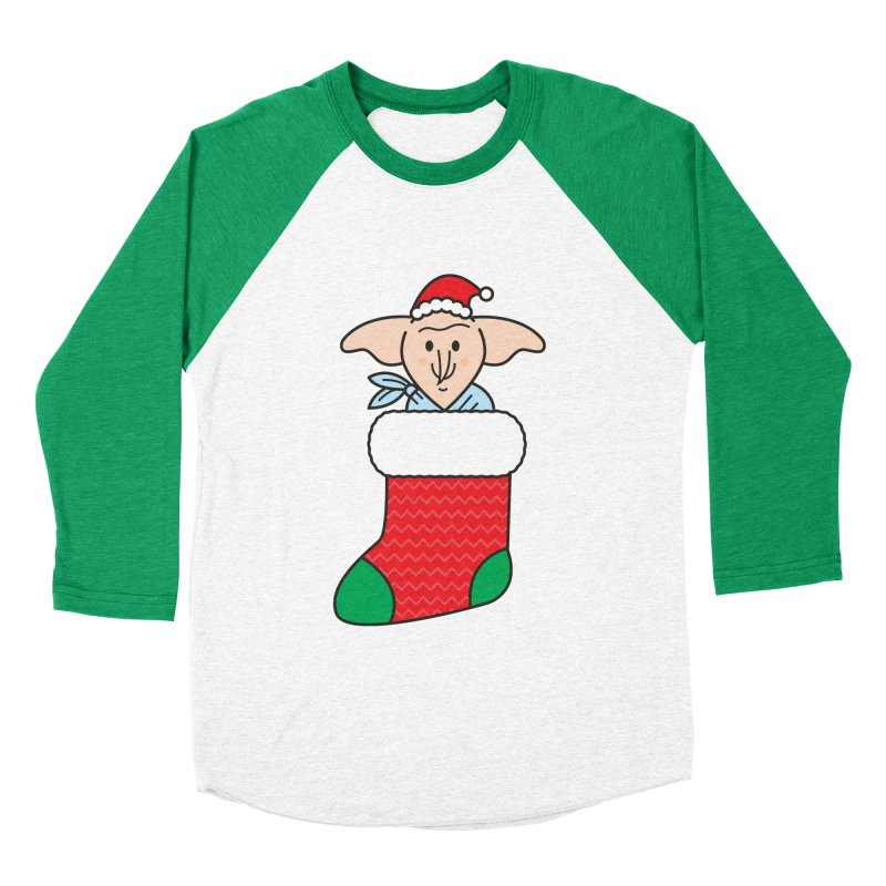 Xmas Elf Men's Baseball Triblend Longsleeve T-Shirt by Pepe Rodríguez