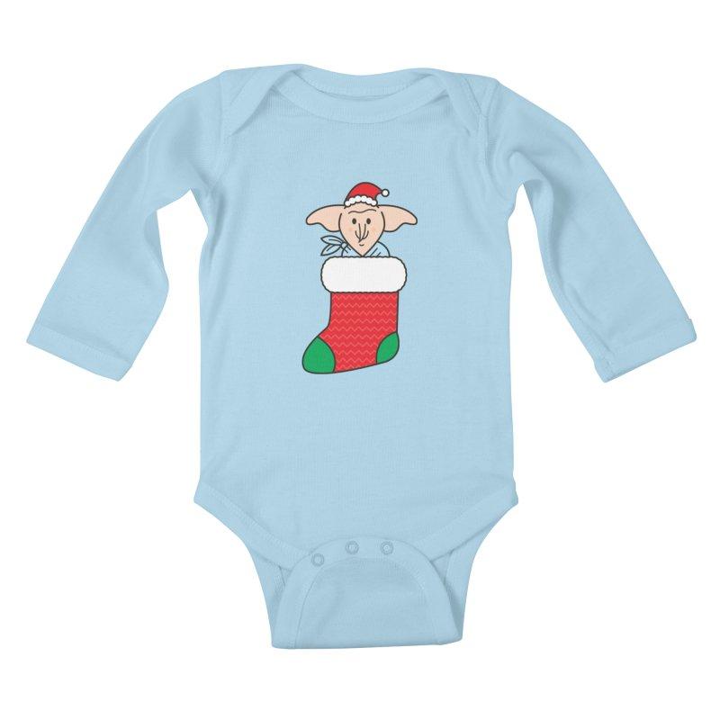 Xmas Elf Kids Baby Longsleeve Bodysuit by Pepe Rodríguez