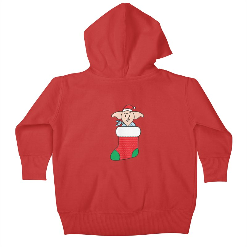 Xmas Elf Kids Baby Zip-Up Hoody by Pepe Rodríguez