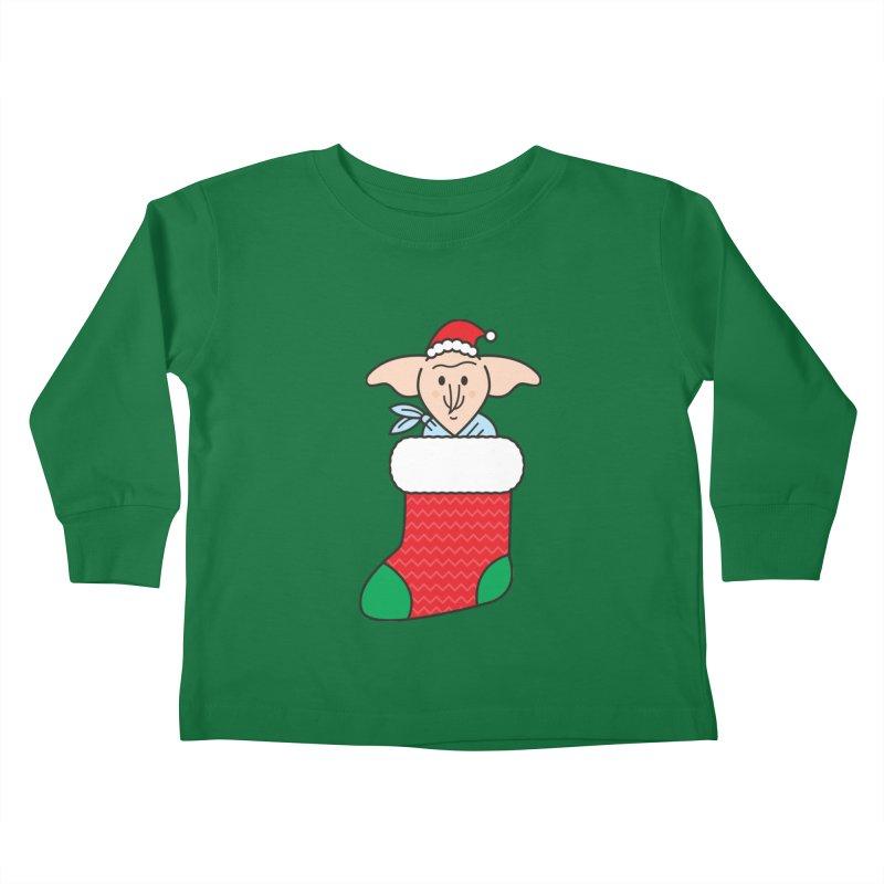 Xmas Elf Kids Toddler Longsleeve T-Shirt by Pepe Rodríguez