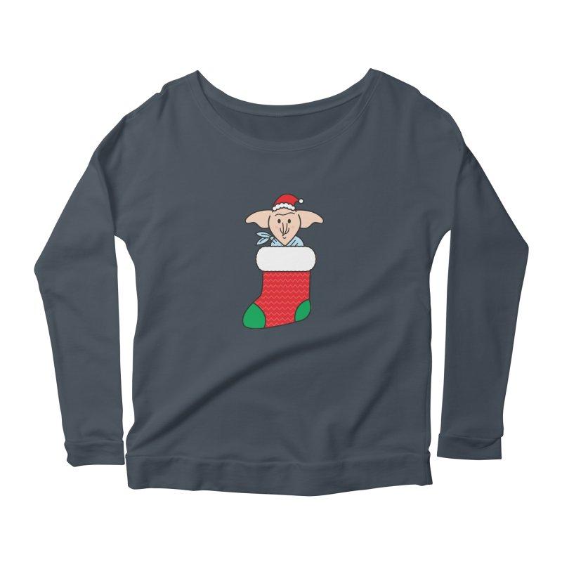 Xmas Elf Women's Scoop Neck Longsleeve T-Shirt by Pepe Rodríguez