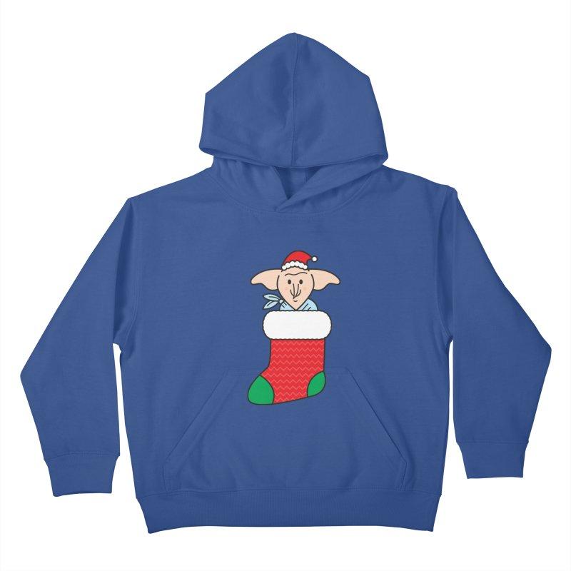 Xmas Elf Kids Pullover Hoody by Pepe Rodríguez