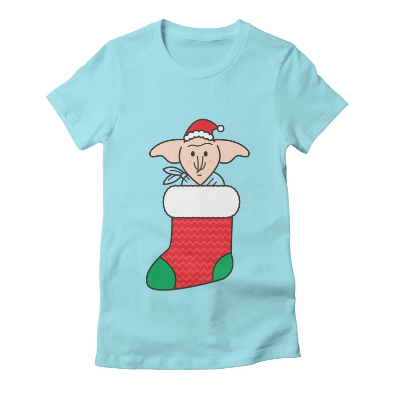 Xmas Elf Women's Fitted T-Shirt by Pepe Rodríguez