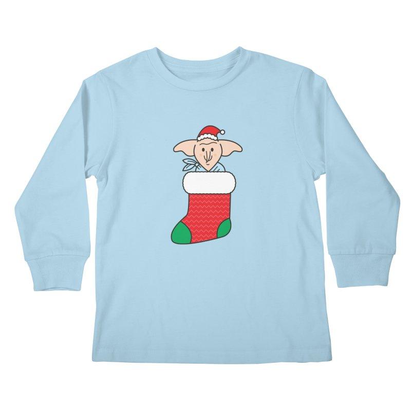 Xmas Elf Kids Longsleeve T-Shirt by Pepe Rodríguez