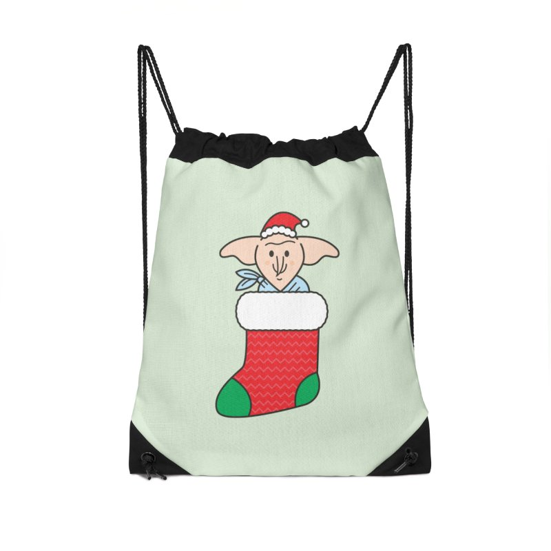 Xmas Elf Accessories Drawstring Bag Bag by Pepe Rodríguez