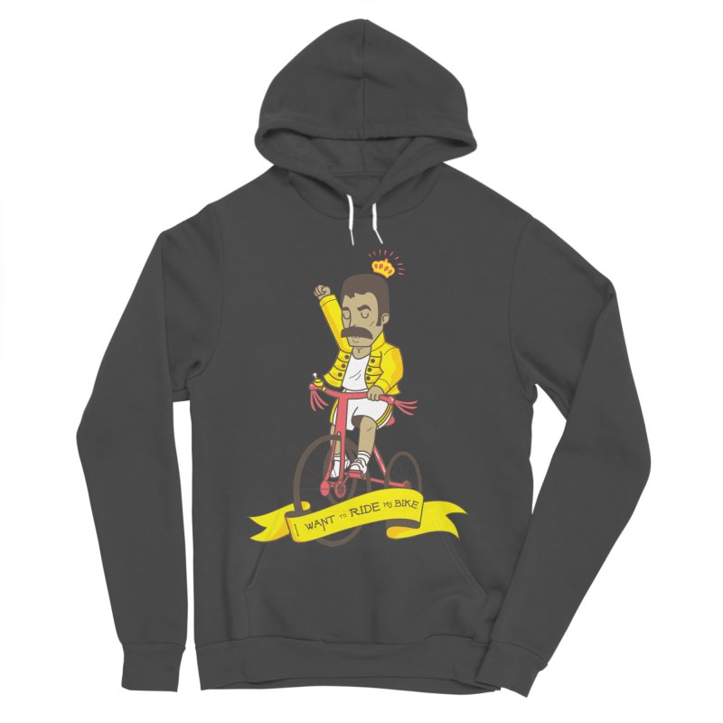 Queen Bike Women's Sponge Fleece Pullover Hoody by Pepe Rodríguez