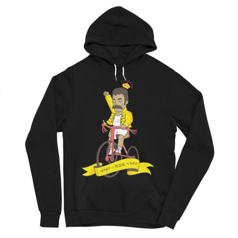 Queen Bike Men's Sponge Fleece Pullover Hoody by Pepe Rodríguez