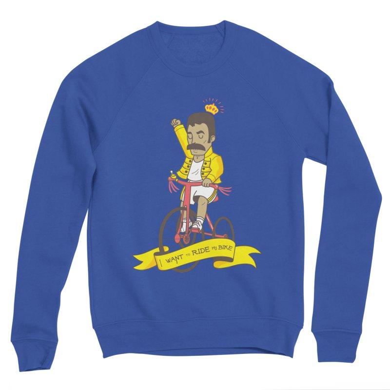 Queen Bike Women's Sponge Fleece Sweatshirt by Pepe Rodríguez