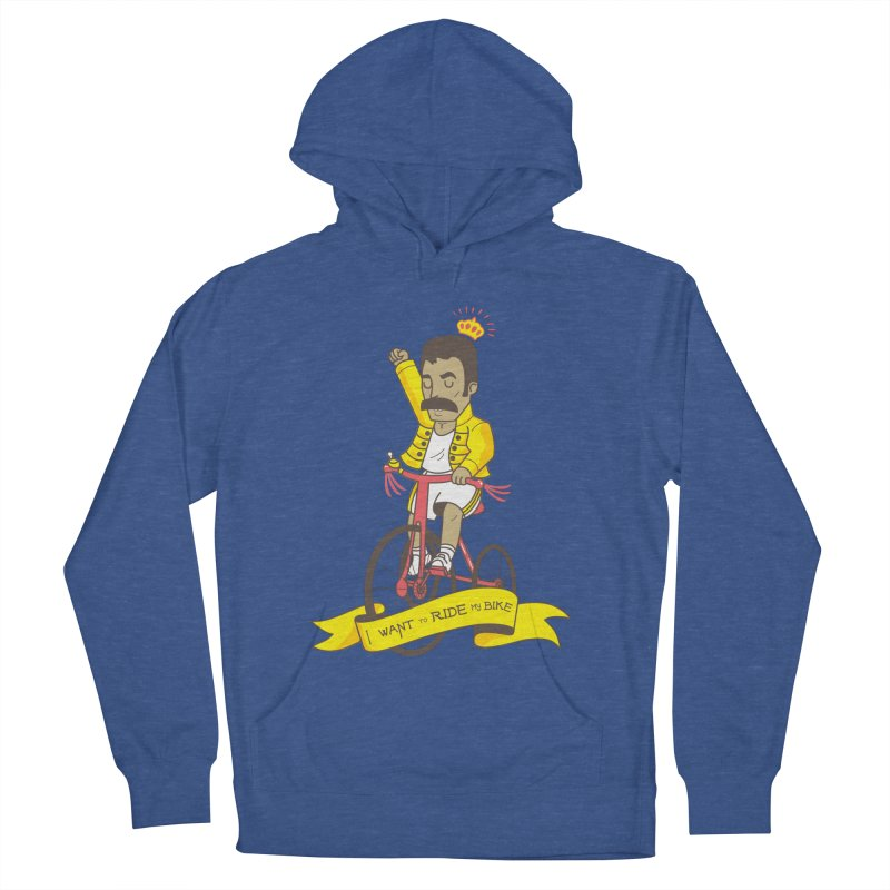Queen Bike Women's French Terry Pullover Hoody by Pepe Rodríguez