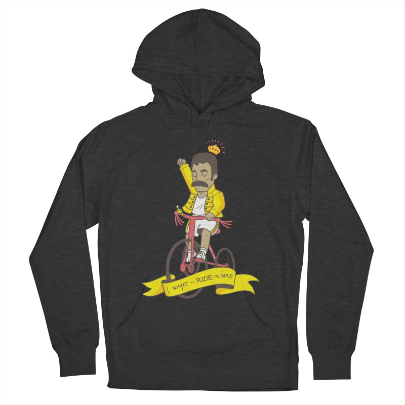 Queen Bike Men's French Terry Pullover Hoody by Pepe Rodríguez