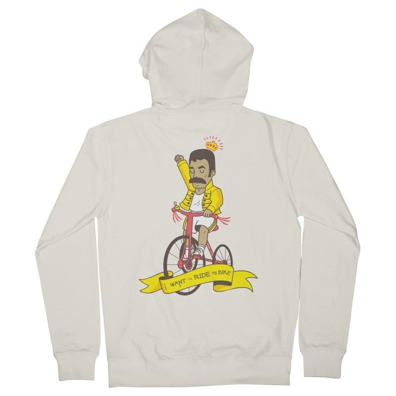 Queen Bike Women's French Terry Zip-Up Hoody by Pepe Rodríguez