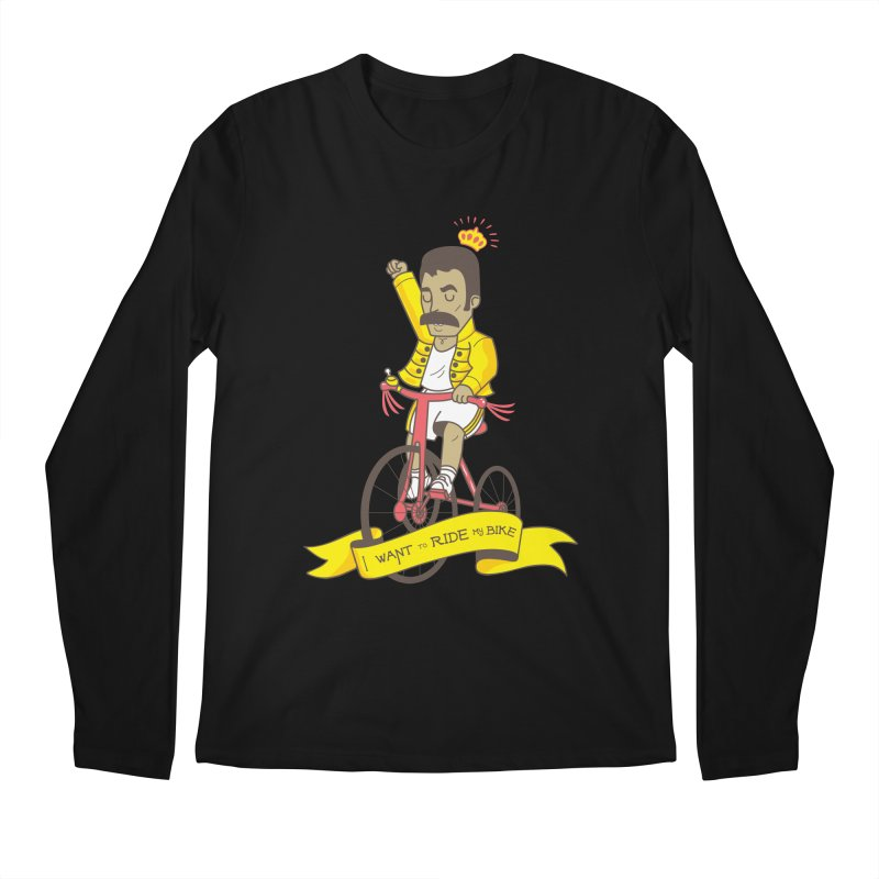 Queen Bike Men's Regular Longsleeve T-Shirt by Pepe Rodríguez