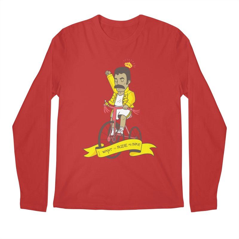Queen Bike Men's Regular Longsleeve T-Shirt by Pepe Rodríguez