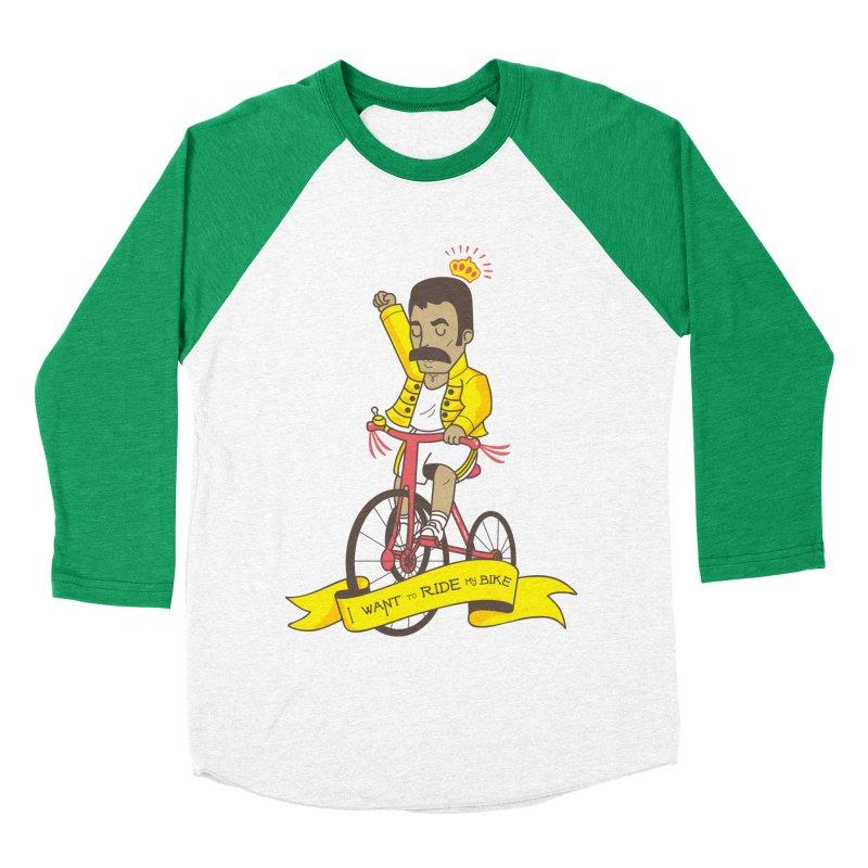 Queen Bike Women's Baseball Triblend Longsleeve T-Shirt by Pepe Rodríguez