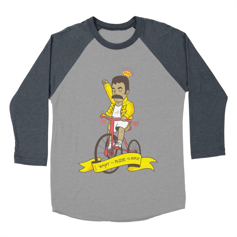 Queen Bike Men's Baseball Triblend Longsleeve T-Shirt by Pepe Rodríguez