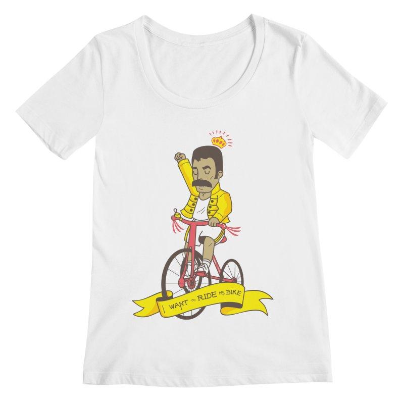 Queen Bike Women's Regular Scoop Neck by Pepe Rodríguez