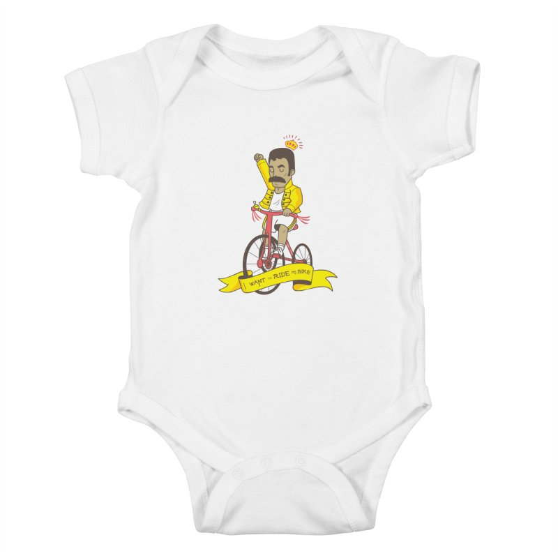 Queen Bike Kids Baby Bodysuit by Pepe Rodríguez