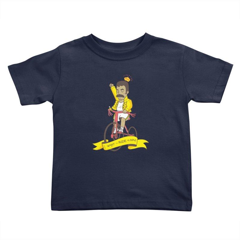 Queen Bike Kids Toddler T-Shirt by Pepe Rodríguez