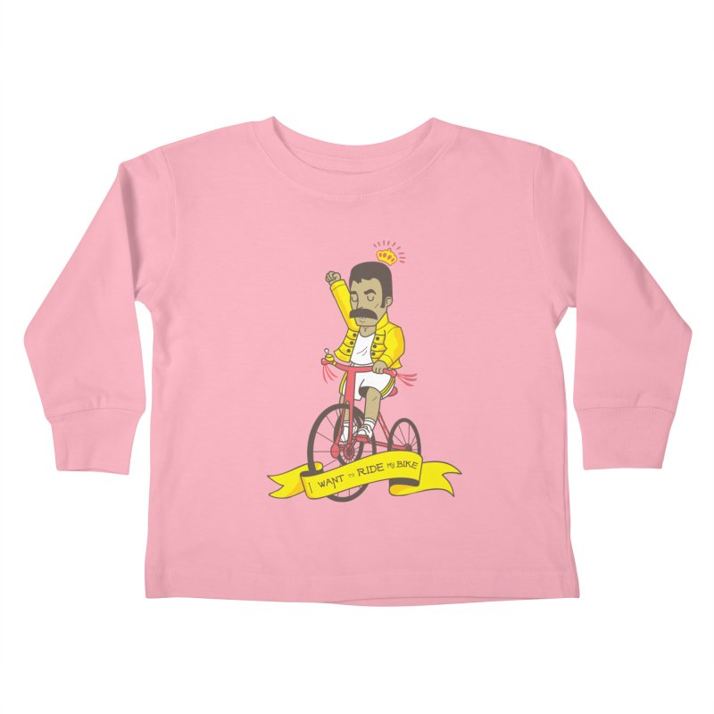 Queen Bike Kids Toddler Longsleeve T-Shirt by Pepe Rodríguez