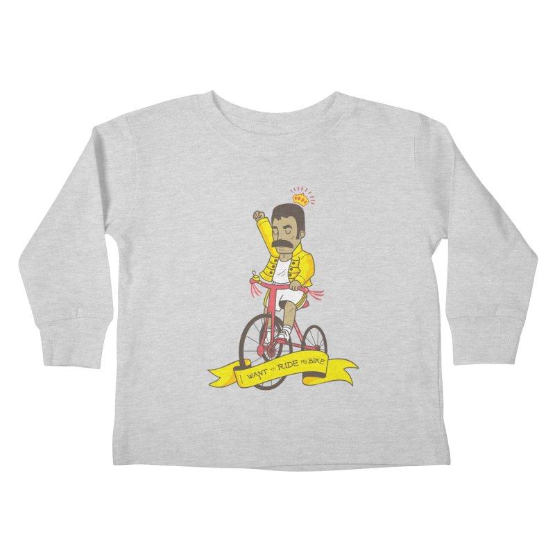 Queen Bike Kids Toddler Longsleeve T-Shirt by Pepe Rodríguez