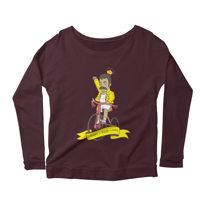 Queen Bike Women's Scoop Neck Longsleeve T-Shirt by Pepe Rodríguez