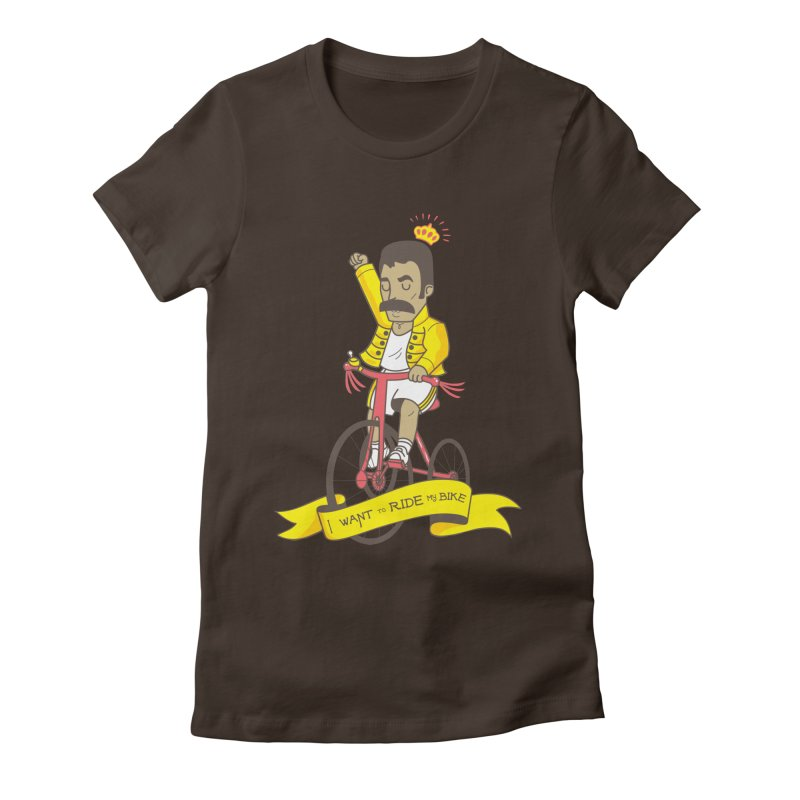 Queen Bike Women's Fitted T-Shirt by Pepe Rodríguez