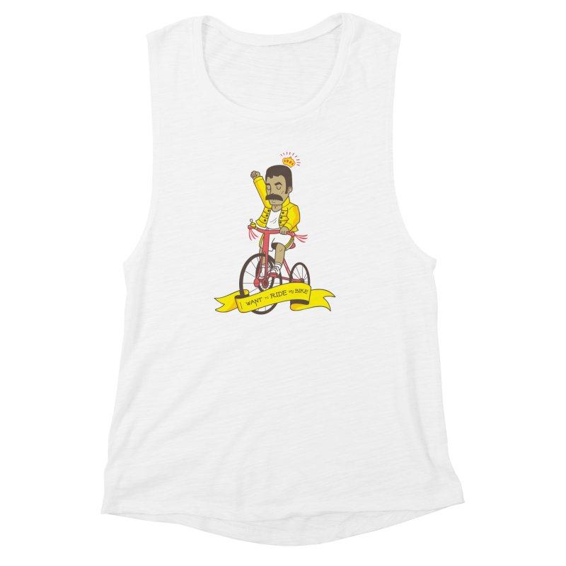 Queen Bike Women's Muscle Tank by Pepe Rodríguez