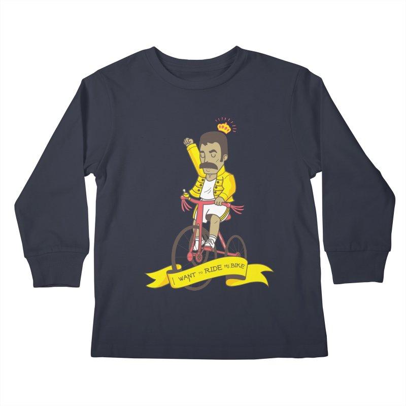 Queen Bike Kids Longsleeve T-Shirt by Pepe Rodríguez