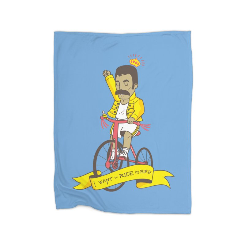 Queen Bike Home Blanket by Pepe Rodríguez