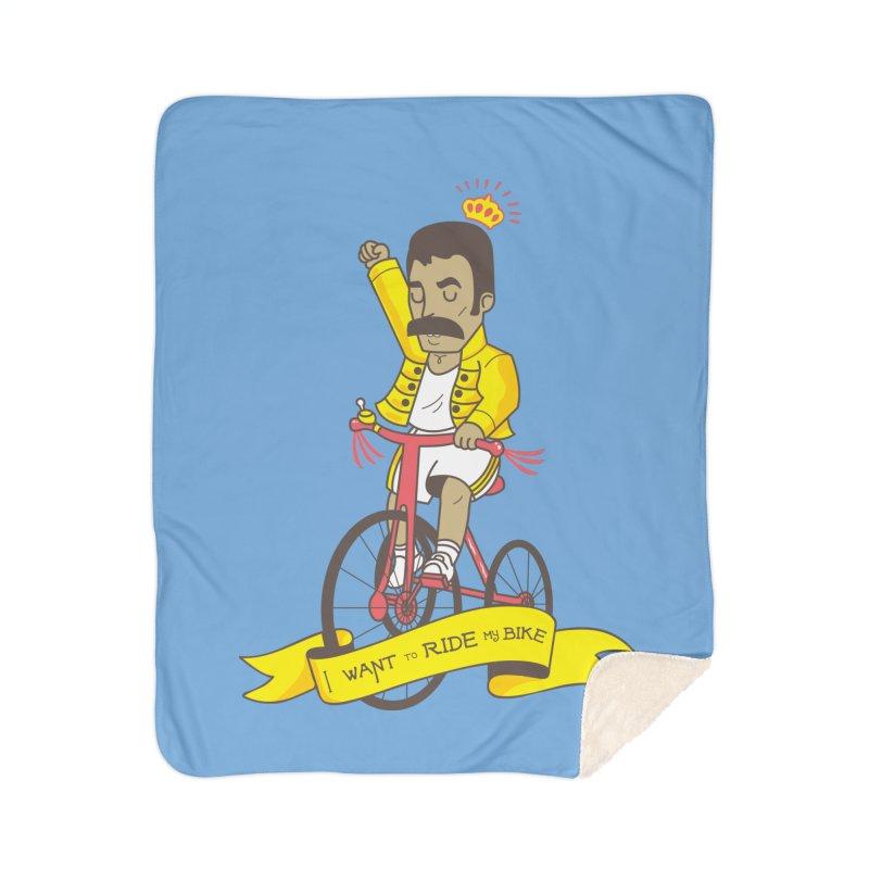 Queen Bike Home Sherpa Blanket Blanket by Pepe Rodríguez