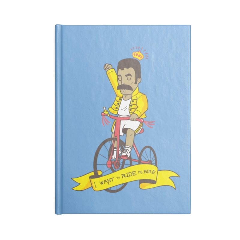 Queen Bike Accessories Lined Journal Notebook by Pepe Rodríguez