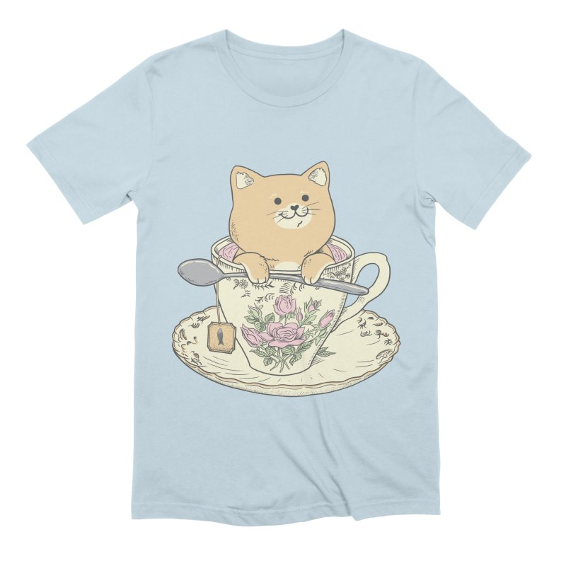 Tea Cat Time Men's T-Shirt by Pepe Rodríguez