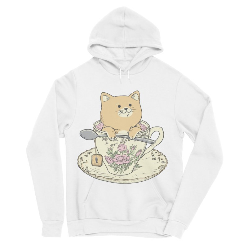 Tea Cat Time Women's Sponge Fleece Pullover Hoody by Pepe Rodríguez
