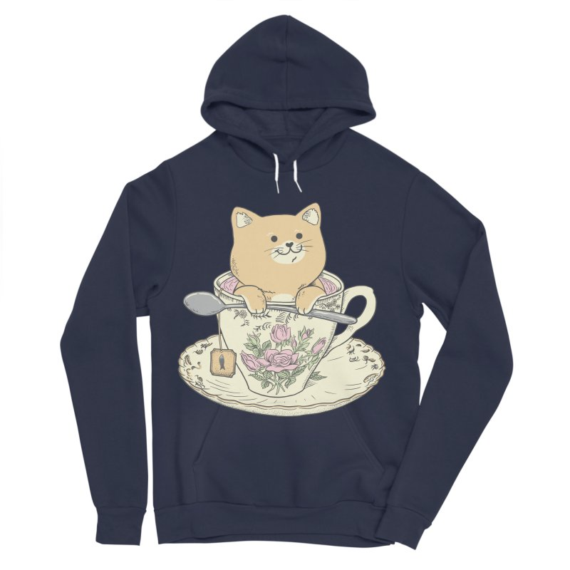 Tea Cat Time Women's Sponge Fleece Pullover Hoody by Pepe Rodríguez