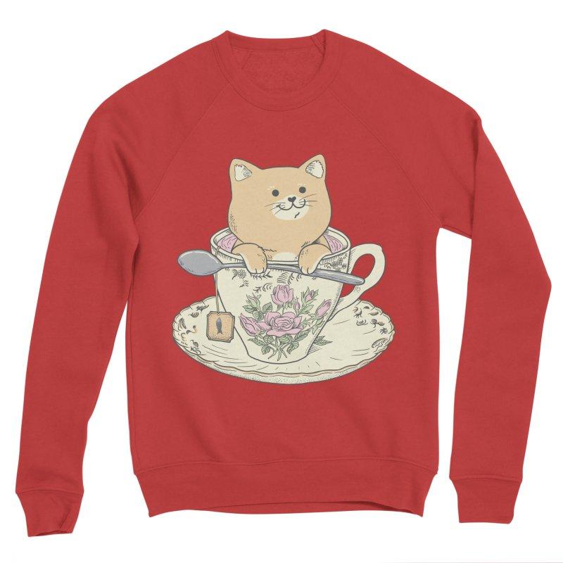 Tea Cat Time Men's Sponge Fleece Sweatshirt by Pepe Rodríguez