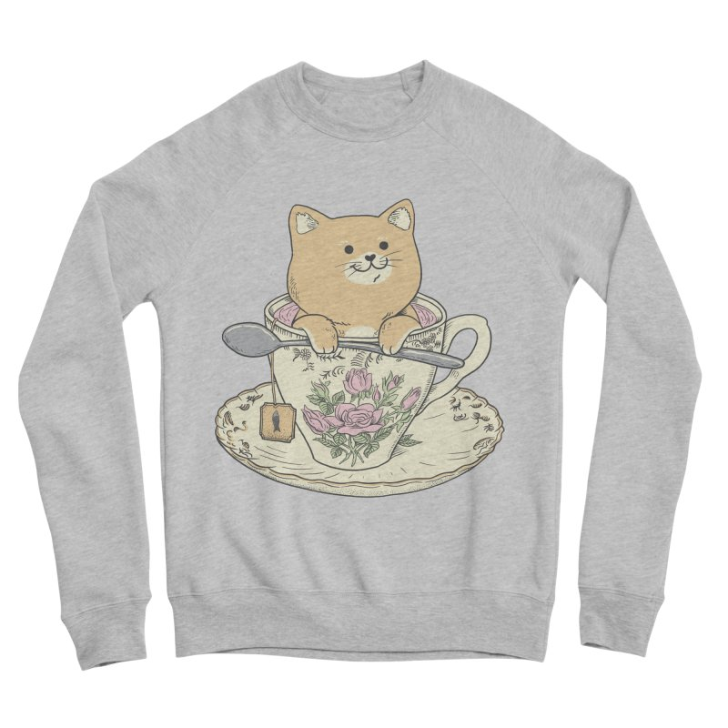 Tea Cat Time Men's Sponge Fleece Sweatshirt by Pepe Rodríguez