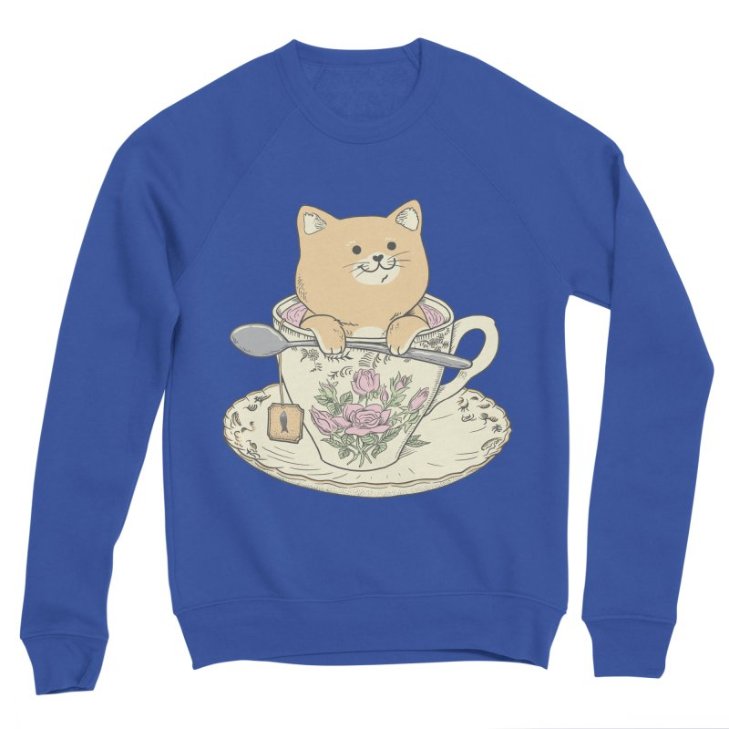 Tea Cat Time Women's Sponge Fleece Sweatshirt by Pepe Rodríguez