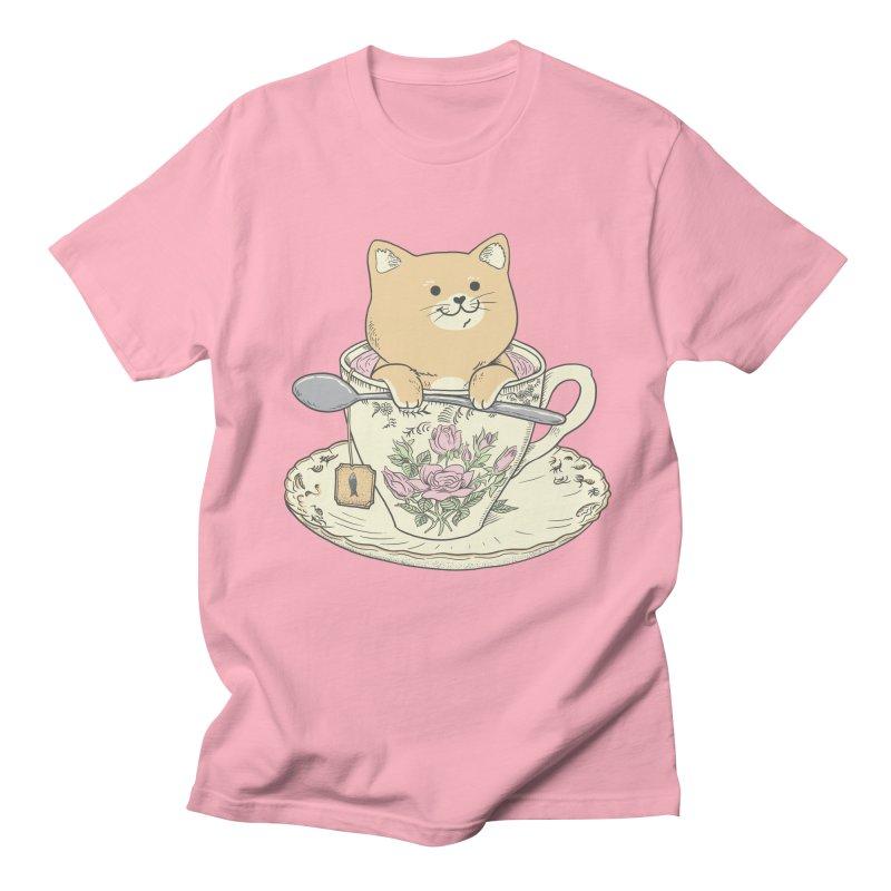 Tea Cat Time Women's Regular Unisex T-Shirt by Pepe Rodríguez